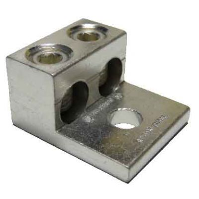 """2S2/0-33-44-HEX-M"" Double Wire Lug (2/0-14)"